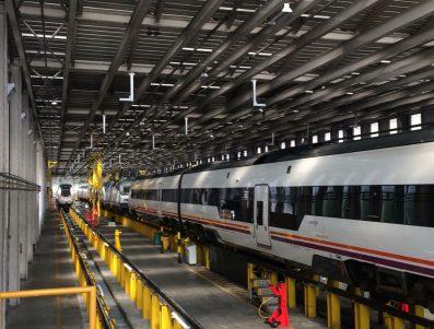 RENFE: Reparación de instalación eléctrica bajo bastidor de autopropulsado 527009 por incendio.