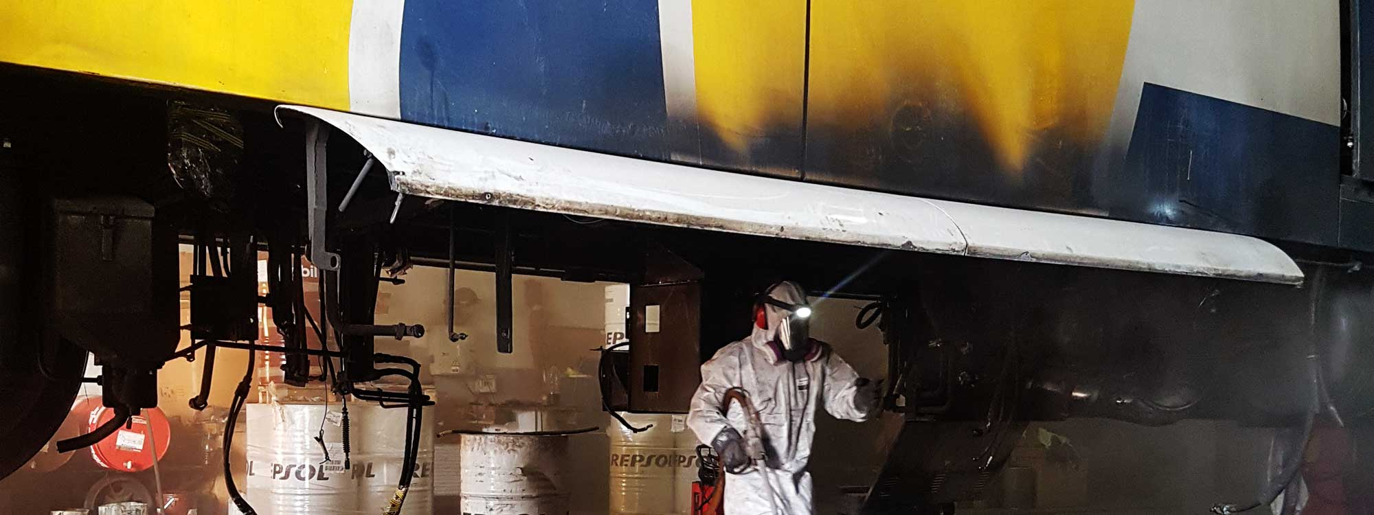RENFE: Reparación unidad 529-003 Limpieza criogenica